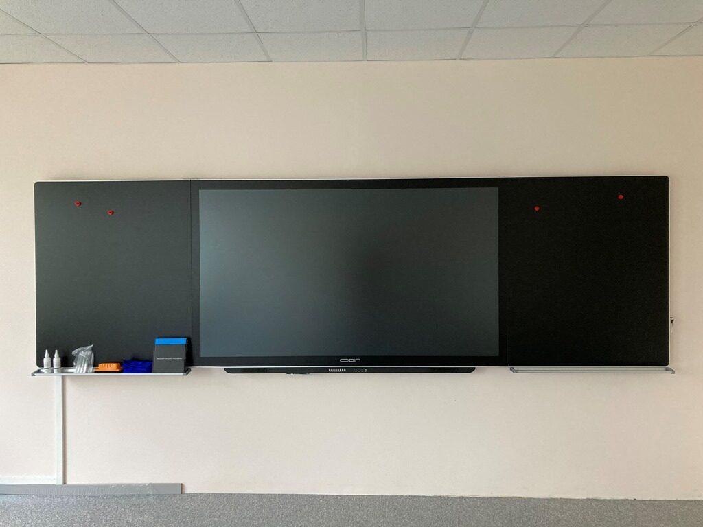 "Stikla tāfele Odin Smart E-Blackboard ar iebūvētu 86"" interaktīvo displeju"