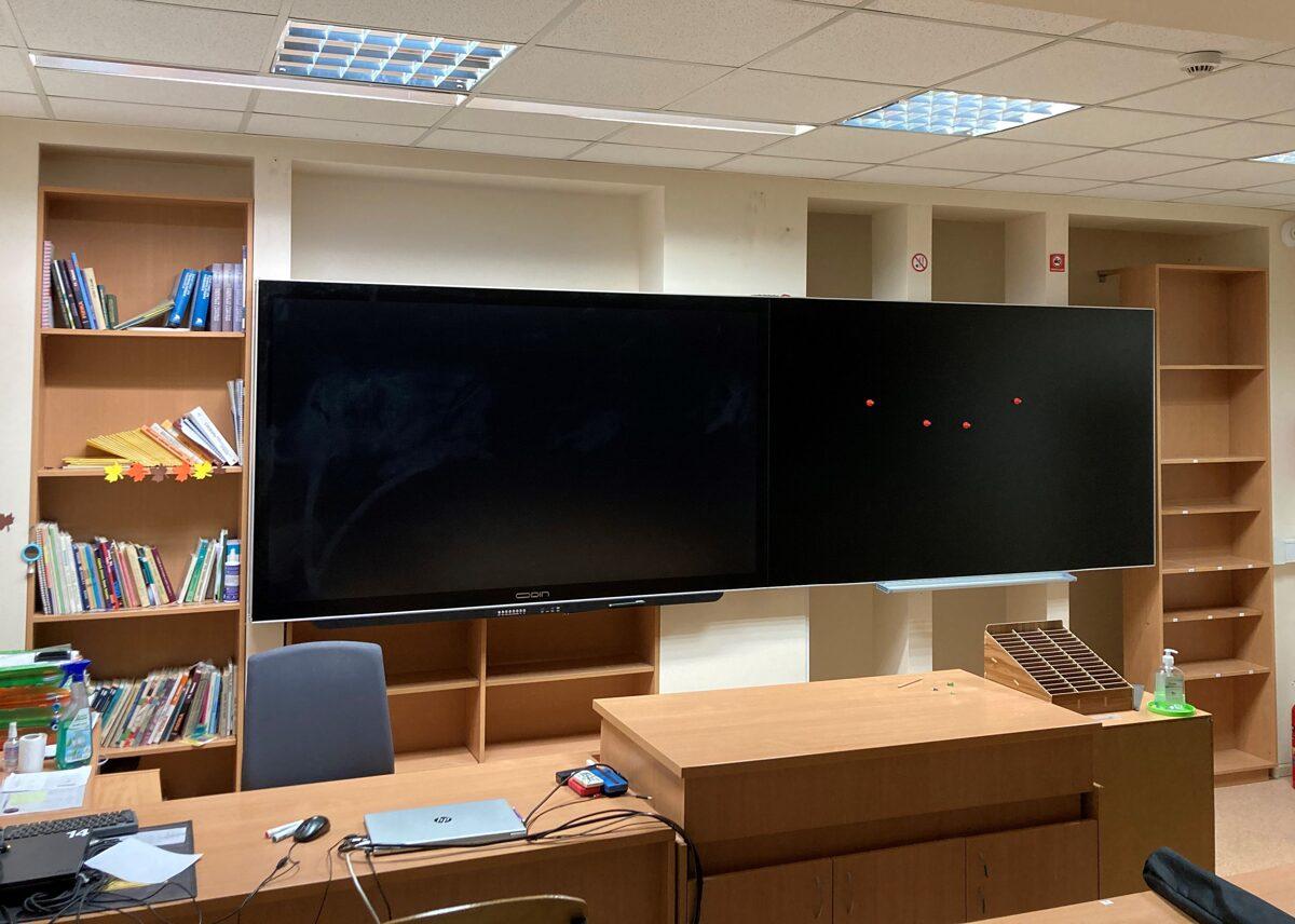 "Stikla tāfele Odin Smart E-Blackboard ar iebūvētu 75"" interaktīvo displeju"