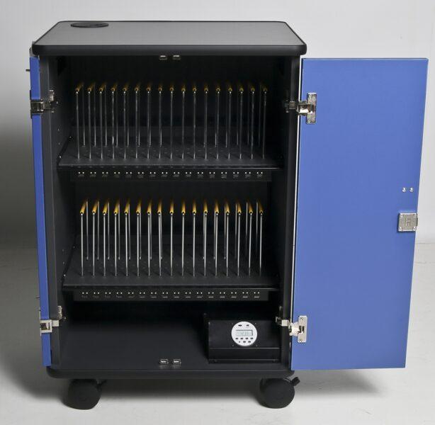 Planšetu uzlādes skapis Vega 32TK (USB, koka, 32 planšetēm/viedtālruņiem)