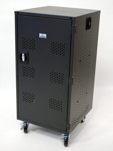 Portatīvo datoru uzlādes skapis Vega 24T/16NBM (metāla, 24 planšetēm/16 portatīvajiem datoriem)
