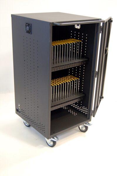 Planšetu uzlādes skapis Vega 32TM (USB, metāla, 32 planšetēm/viedtālruņiem)
