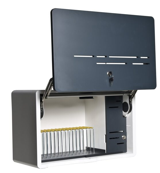 Sienas uzlādes skapis (USB, 16 planšetēm/viedtālruņiem)