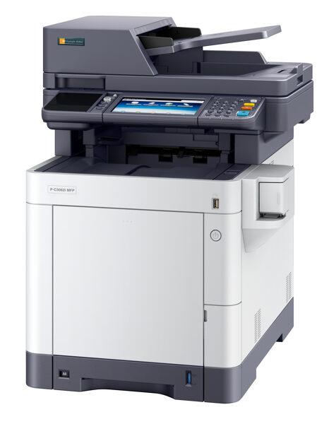 Divpusējās drukas krāsu lāzerprinteris, skeneris, kopētājs P-C3062i MFP